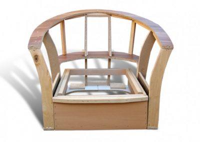 Stelaż tapicerski fotela 02